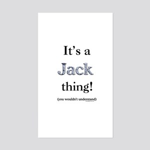 Jack Thing Rectangle Sticker