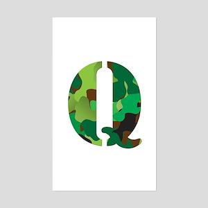 The Letter 'Q' Sticker (Rectangle)