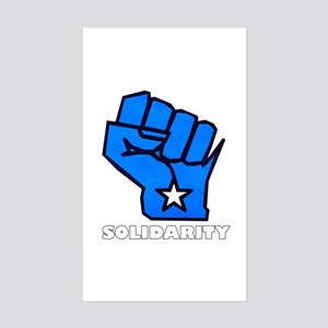 Solidarity Fist Sticker (Rectangle)