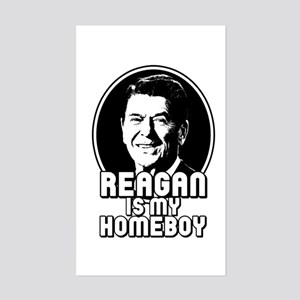 Ronald Reagan Is My Homeboy Rectangle Sticker