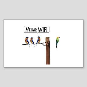 He has WiFi Sticker (Rectangle)