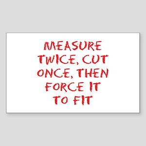 measure force Sticker (Rectangle)