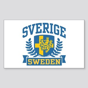 Sverige Sweden Rectangle Sticker