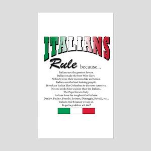 Italians Rules Rectangle Sticker