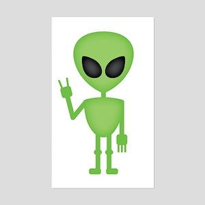 Aliens Rock Sticker (Rectangle)