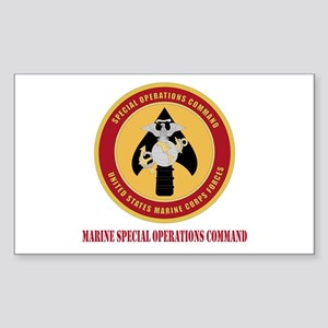 Marine Special Ops Cmd with Text Sticker (Rectangl
