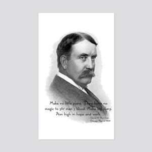 Daniel Burnham Chicago Architect Sticker (Rectangu