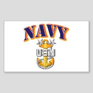 Navy - NAVY - MCPO Sticker (Rectangle)