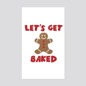 Let's Get Baked Funny Christmas Sticker