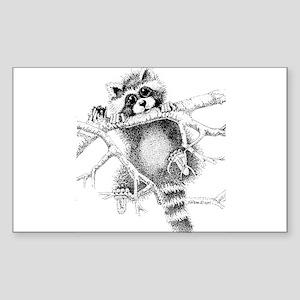 Raccoon Play Sticker (Rectangle)
