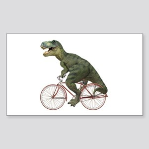 Cycling Tyrannosaurus Rex Sticker (Rectangle)