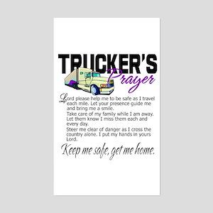 Trucker's Prayer Sticker (Rectangle)
