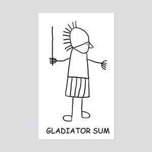 Gladiator Sum Rectangle Sticker