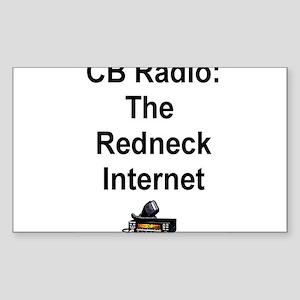 Redneck Internet Rectangle Sticker