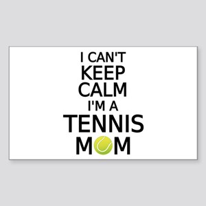 I cant keep calm, I am a tennis mom Sticker