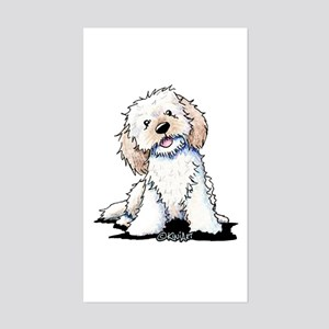 Smiling Doodle Puppy Sticker (Rectangle)