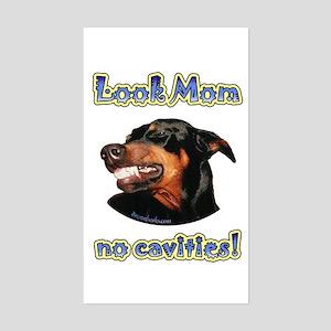 Doberman Humor II Rectangle Sticker