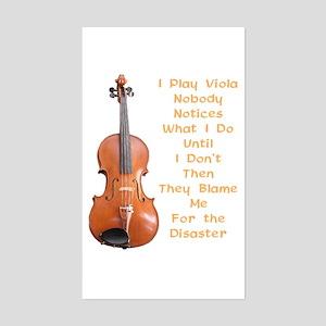 I Play Viola Rectangle Sticker