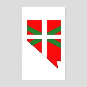 Nevada Basque Rectangle Sticker