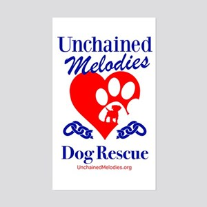 Unchained Melodies Dog Rescue Heart Sticker