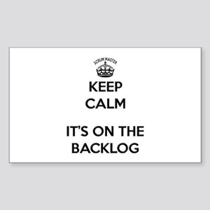 Scrum Master Backlog Sticker
