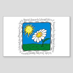 Answer To Prayer Rectangle Sticker