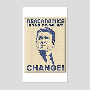 Reaganomics Rectangle Sticker