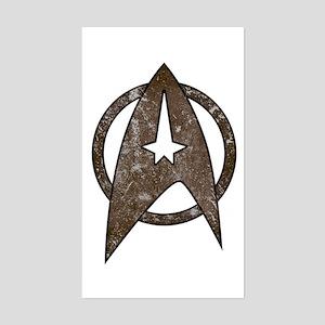 Vintage Starfleet Badge Sticker (Rectangle)