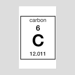 Carbon Rectangle Sticker