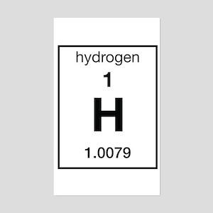 Hydrogen Rectangle Sticker
