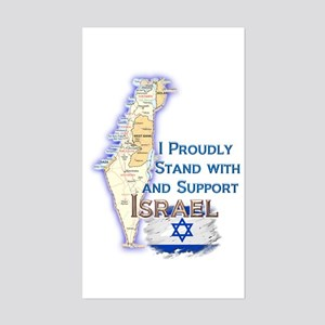 I Stand With Israel - Sticker (Rectangle)