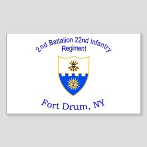 2nd Bn 22nd Inf Reg Sticker (Rectangle)