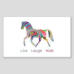 Rainbow horse gift Sticker (Rectangle)