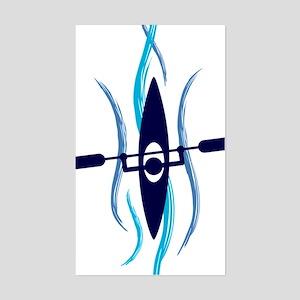Current Kayak Sticker (Rectangle)