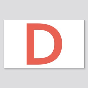 Big Red Letter Sticker