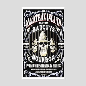 ALCATRAZ ISLAND BAD GUYS BOUR Sticker (Rectangle)