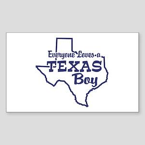 Texas Boy Rectangle Sticker