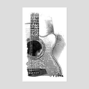 Guitar Sticker (Rectangle)
