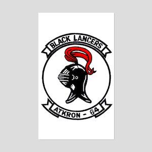 VA 64 Black Lancers Rectangle Sticker