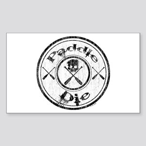 Paddle Oar Die (circle) Sticker (Rectangle)
