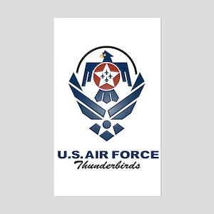USAF Thunderbirds Diamond Rectangle Sticker