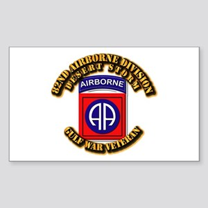 Army - DS - 82nd ABN DIV - DS Sticker (Rectangle)