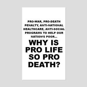 Why so pro death? Rectangle Sticker