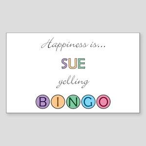 Sue BINGO Rectangle Sticker