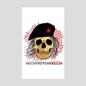 Collectivism Kills Rectangle Sticker