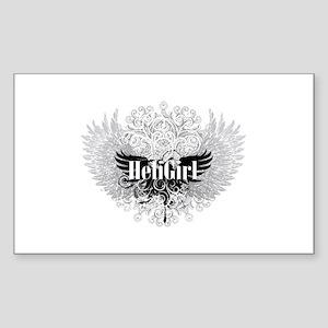 HeliGirlGrungeWingB Rectangle Sticker
