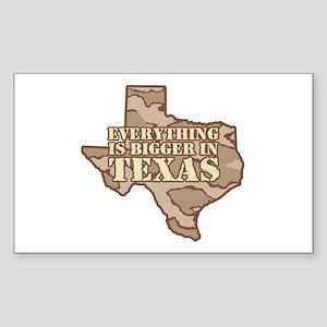 Everything Is Bigger In Texas Sticker (Rectangular