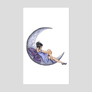 A Fairy Moon Rectangle Sticker