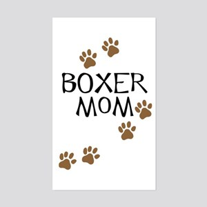 Boxer Mom Sticker (Rectangle)
