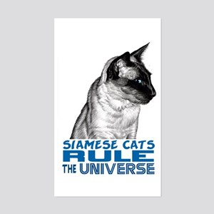 Siamese Universe Rectangle Sticker